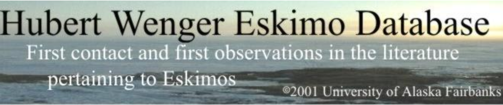 Hubert Wenger Eskimo Database
