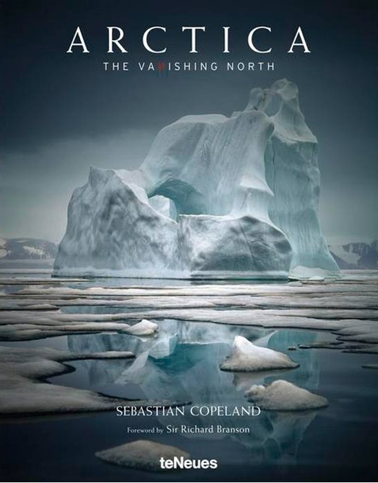 "Book cover of ""Arctica, the vanishing North""."